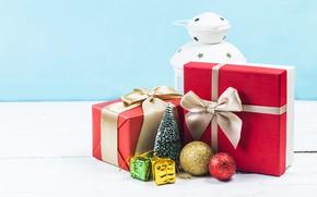 Picture snow, decoration, New Year, Christmas, lantern, gifts, Christmas, wood, snow, New Year, decoration, xmas, lantern, …