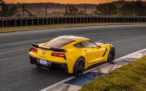 Picture Corvette, Chevrolet, rear view, Grand Sport, 2017