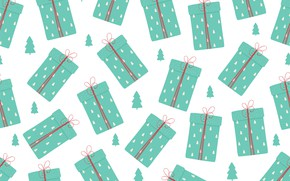 Picture white, background, gifts, box