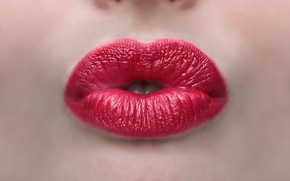Picture face, background, lips