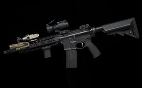 Picture weapons, AR-15, a semi-automatic rifle
