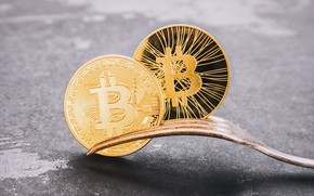 Picture gold, fork, bitcoin