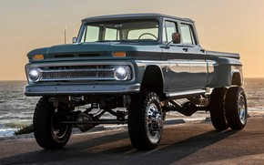 Picture Truck, Sea, Custom, Vehicle, Modified, Chevrolet Crew Cab