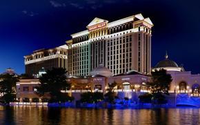 Picture the city, lights, the evening, Las Vegas, USA, Caesars Palace
