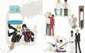 Picture situation, guys, brothers, Durarara, Durarara, Heiwajima Shizuo, Kasuka Heiwajima