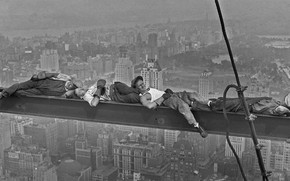 Picture retro, stay, New York, USA, Manhattan, builders, 1930