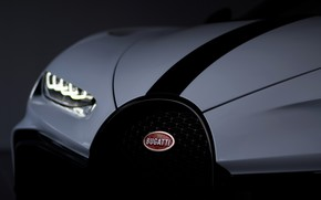 Picture headlight, the hood, Bugatti, Chiron, 2020, Chiron Pur Sport