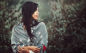 Picture flower, girl, nature