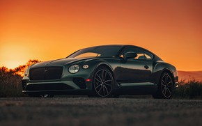 Picture sunset, coupe, Bentley, the evening, 2019, Continental GT V8