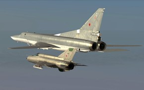 Picture Tu-22M3, MiG-21bis, Support