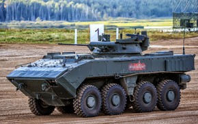 Picture polygon, BMP, demonstration, Russian weapons, armored vehicles of Russia, K-17, Boomerang-BM