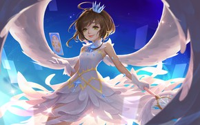 Picture girl, angel, Card Captor Sakura, Sakura - collector cards