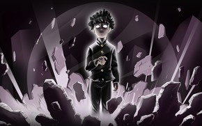 Picture the wreckage, stones, power, Mob Psycho 100, Kageyama Shigeo, Mob Psycho 100