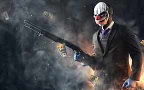 Picture weapons, the game, mask, game, shooter, Payday, 2022, Payday 3