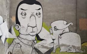 Picture wall, graffiti, the city