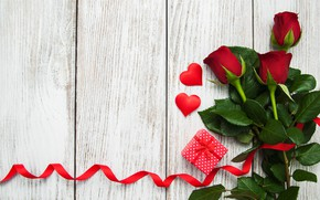 Picture love, gift, roses, hearts, red, red, love, romantic, hearts, valentine's day, roses, gift box