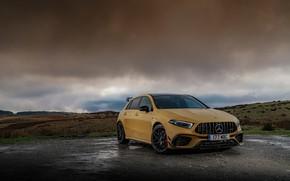 Picture clouds, Mercedes-Benz, Nature, Mercedes, AMG, Aerodynamic, 2020, 4MATIC+, Mercedes Amg A 45, A45 S, 4MATIC+ …