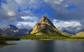 Picture Nature, Clouds, Mountains, Lake, Forest, Landscape