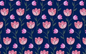 Picture flowers, blue, background, texture, pink