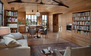 Picture interior, kitchen, library, living room, dining room, East Bay, by Sherry Williamson Design