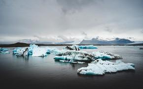 Picture ice, winter, ice, ice, ice, Iceland, pond