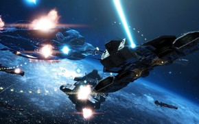 Picture The battle in Orbit, Starships, Dreadnoughts, Spacery