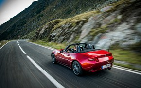 Picture road, red, Mazda, Roadster, MX-5, 2019