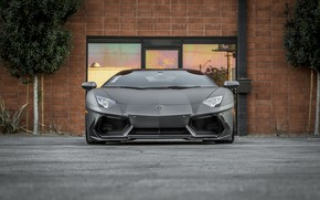 Picture Lamborghini, Front, Aventador, Face, LP 700-4, VAG, Graphite