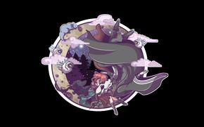 Picture background, round, Mahou Tsukai no Yome, Bride of the sorcerer, Chise, Elias