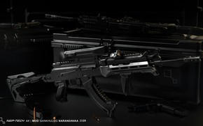 Picture rendering, weapons, tuning, Machine, Gun, weapon, render, Kalashnikov, render, 3d art, AKM, Assault rifle, Russian, …