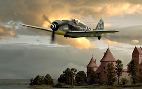 Picture Air Force, August, Air force, 1944, Fw.190A-8, JG54, The Castle
