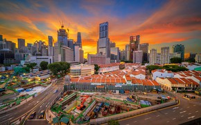 Picture home, the evening, panorama, Asia, Singapore