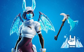 Picture ice, girl, being, the demon, Fortnite