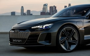 Picture Audi, coupe, 2018, the front part, e-tron GT Concept, the four-door