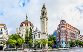 Picture building, architecture, Spain, Spain, Madrid, Madrid, Church of San Manuel y San Benito, Церковь Святых …