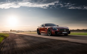 Picture Mercedes-Benz, speed, AMG, 2018, GT R
