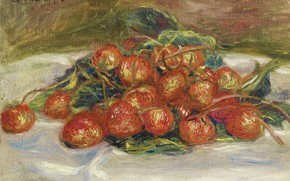 Picture berries, food, picture, Pierre Auguste Renoir, Pierre Auguste Renoir, Still life with Strawberries