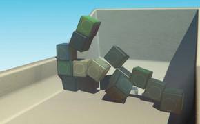 Picture cubes, 3dart, blender render, plasticcubes