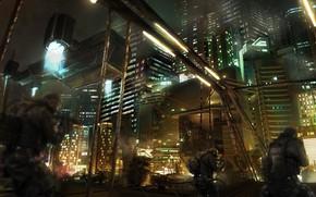 Picture city, scene, urban, Science Fiction