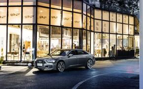 Picture road, auto, Audi, the building, A6L