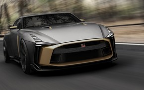 Picture Concept, speed, Nissan, front view, 2018, ItalDesign, GT-R50