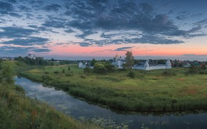 Picture landscape, nature, river, Suzdal, temples, Vitaly Levykin