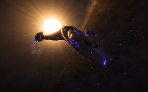 Picture space, light, star, Spaceship, Elite: Dangerous