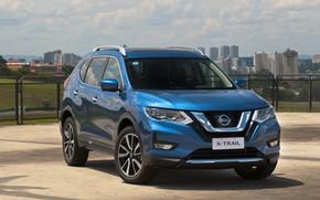 Picture auto, blue, Nissan, Hybrid, X-Trail