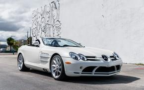 Picture Roadster, White, Graffiti, 2009, Mercedes-Benz SLR McLaren