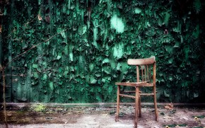 Picture room, wall, chair, naturalism