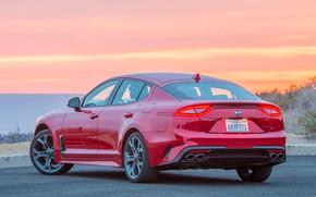 Picture red, kia, kia stinger long term, car kia