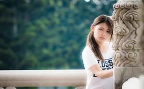 Picture look, girl, Asian, cutie, bokeh