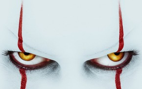 Picture eyes, look, eyelashes, the film, clown, film, it, It Chapter Two, It 2