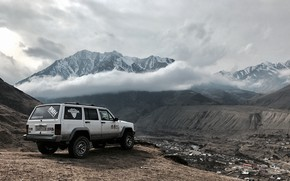 Picture old, canyon, jeep grand cherokee, landscap